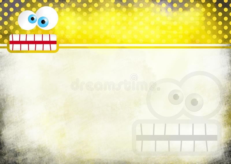 Crazy Face Note Paper stock illustration