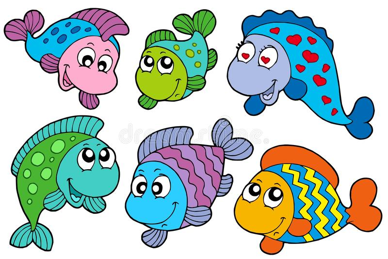 Download Crazy fishes collection stock vector. Image of exotic - 12010351