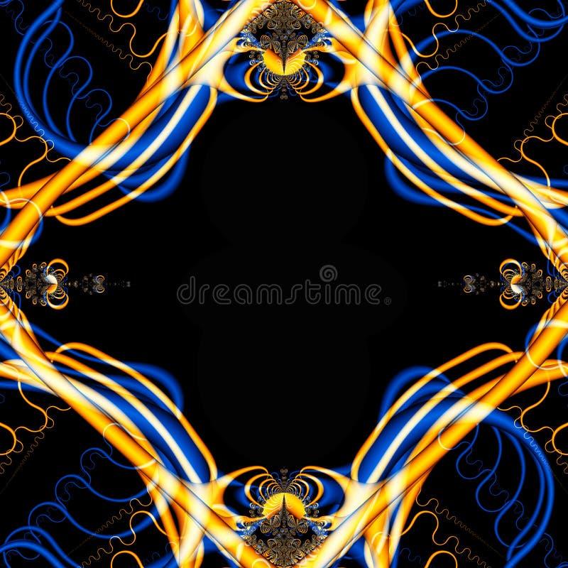 Crazy Fractal Frame royalty free stock photo