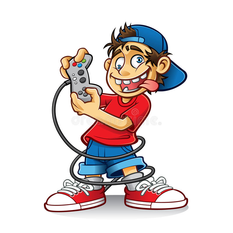 Crazy Game Boy vector illustration