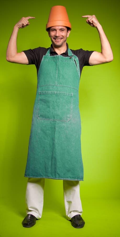 Download Crazy gardener stock photo. Image of apron, adult, lifestyle - 22426248