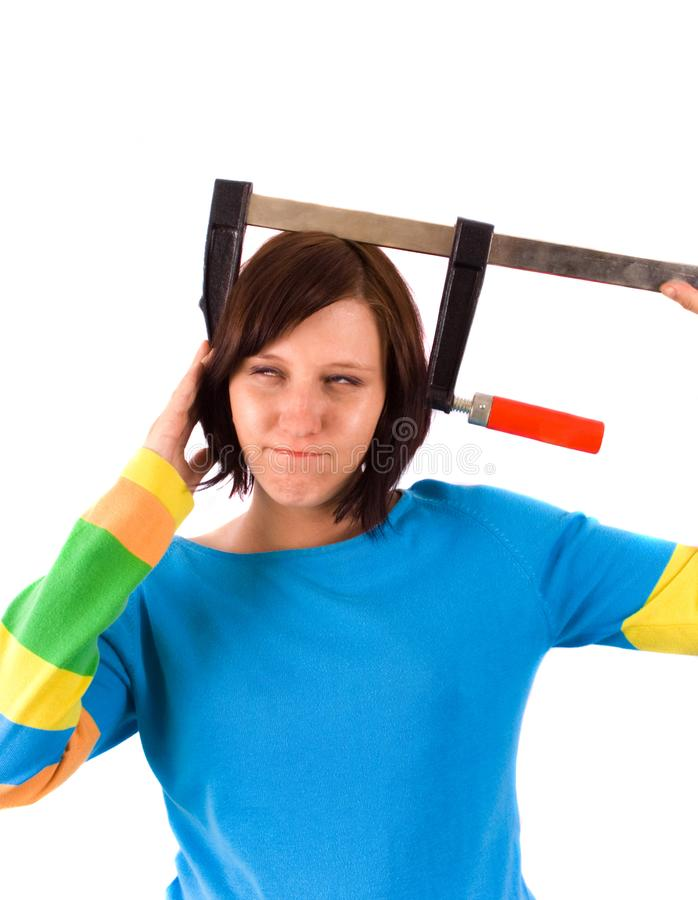 Download Crazy girl stock photo. Image of happy, attractive, pipe - 5289286