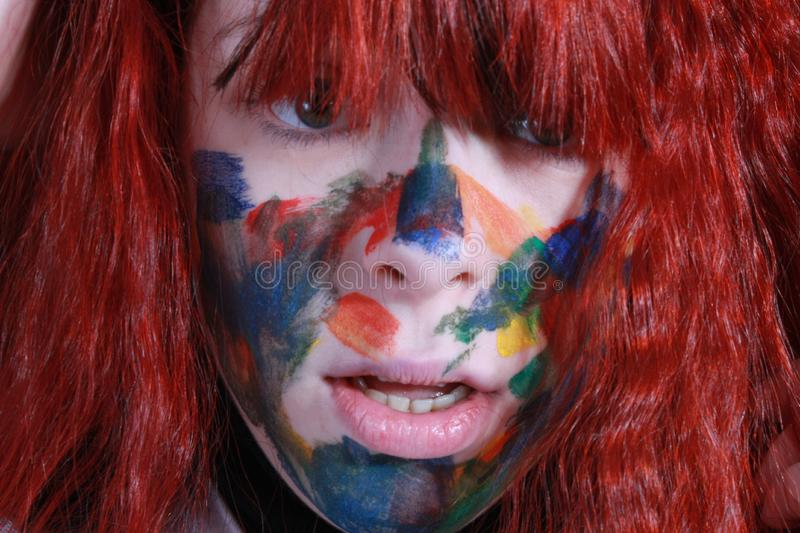 Download Crazy girl stock photo. Image of open, girl, colored, expresive - 7838304