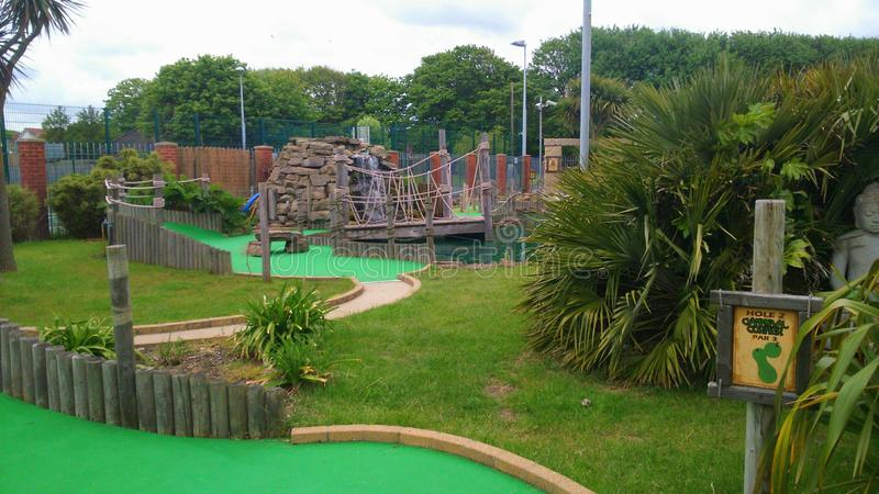 Crazy Golf Madness royalty free stock photos