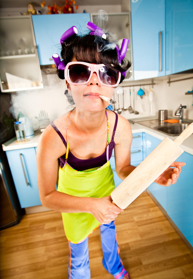 Download Crazy housewife stock photo. Image of dressed, wife, female - 15912836