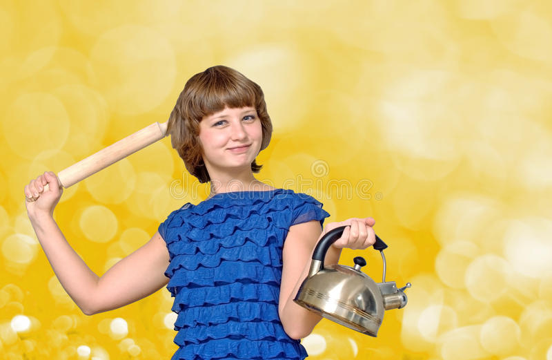 Download Crazy Housewife Royalty Free Stock Image - Image: 22666546