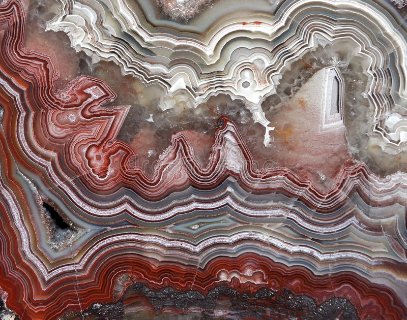 Crazy lace Agate. Crazy lace (aka Laguna lace) Agate from the region of Chihuahua in Mexico stock images
