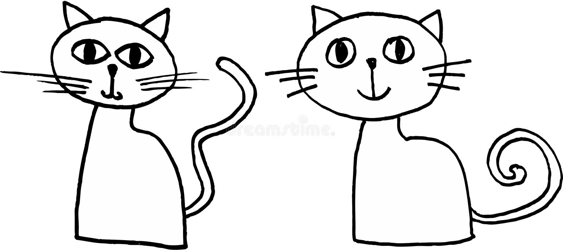 crazy little cats vector illustration