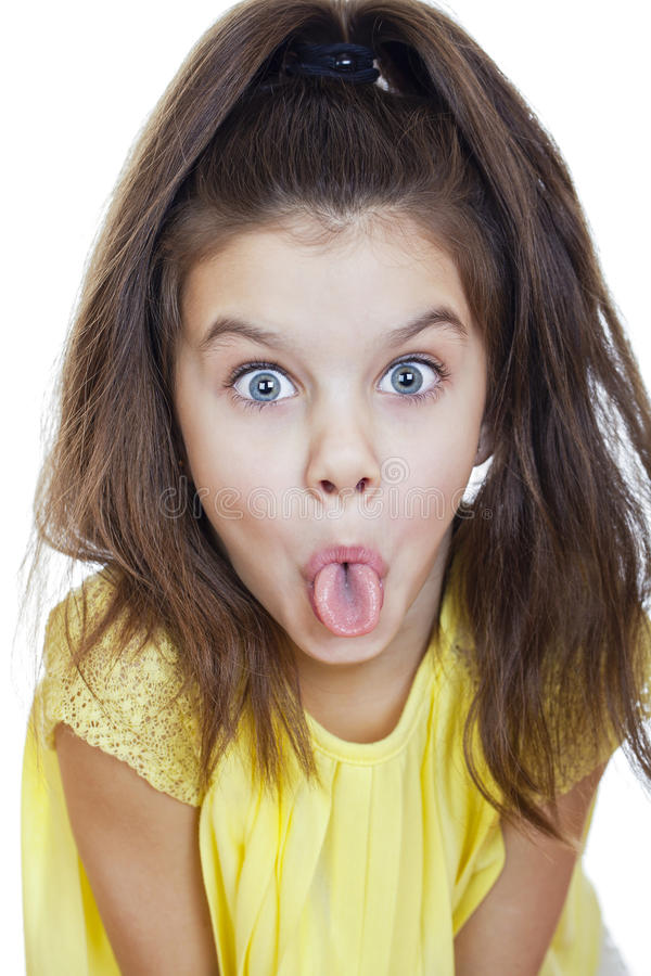 Crazy little girl stock photography