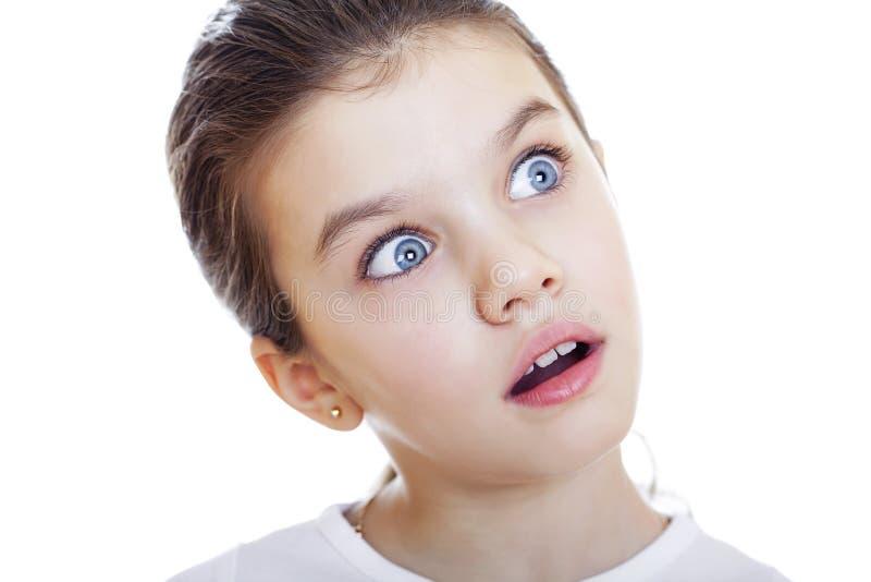 Crazy little girl stock photo