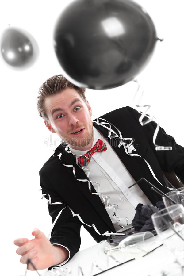Crazy Looking Party Guy Stock Photography