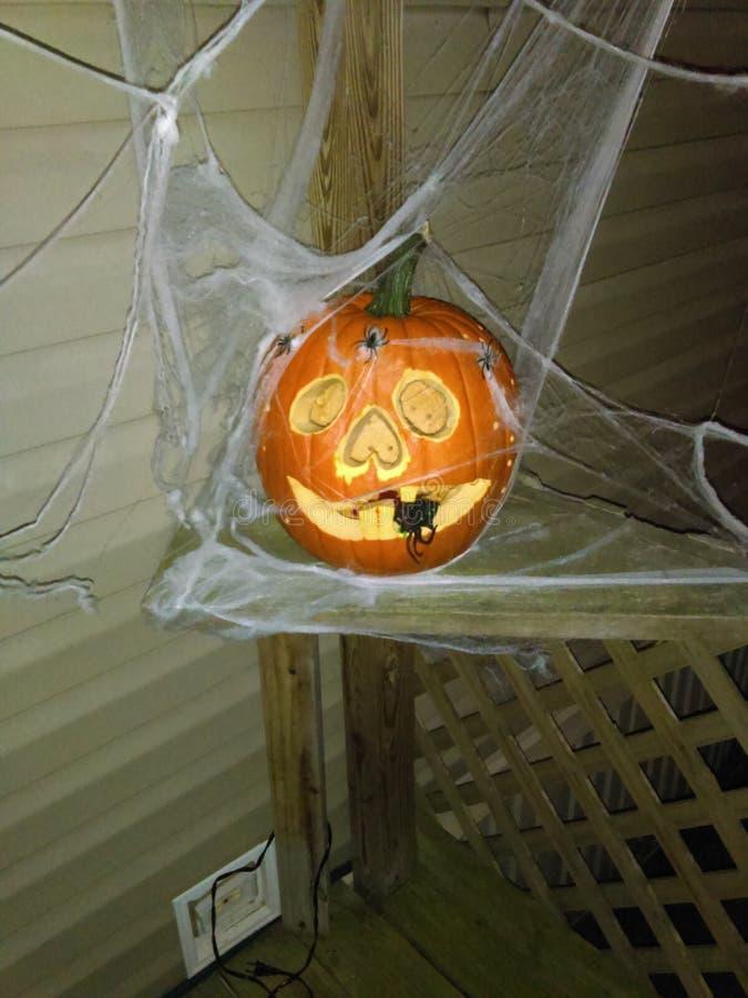 Crazy looking pumpkin stock image