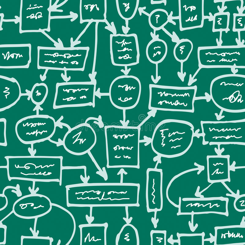 Crazy management on chalkboard stock illustration