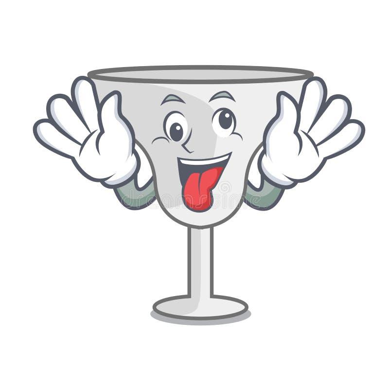 Crazy margarita glass mascot cartoon. Vector illustration vector illustration