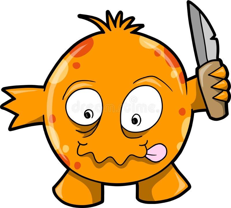 Download Crazy Monster Vector Illustration Stock Vector - Illustration of hell, knife: 9631763