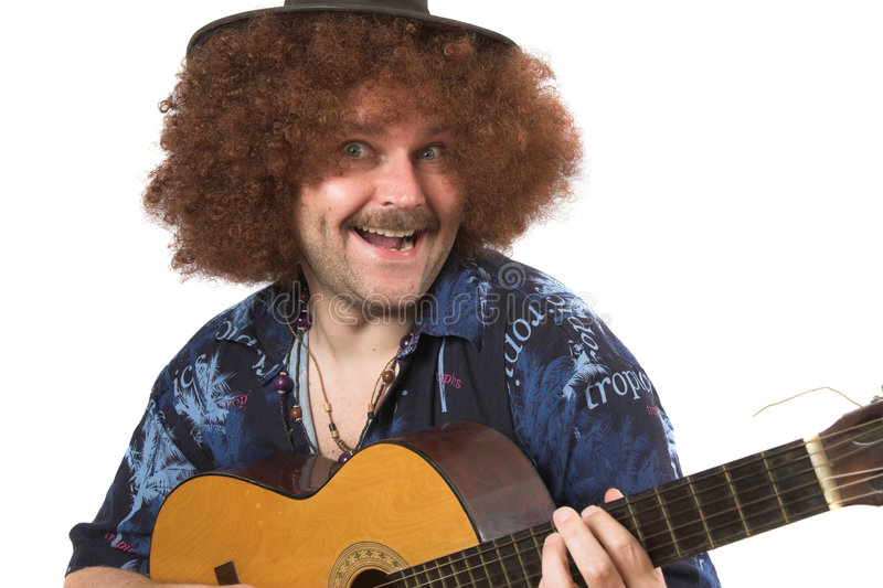 Download Crazy musician stock photo. Image of moustache, casual - 697750