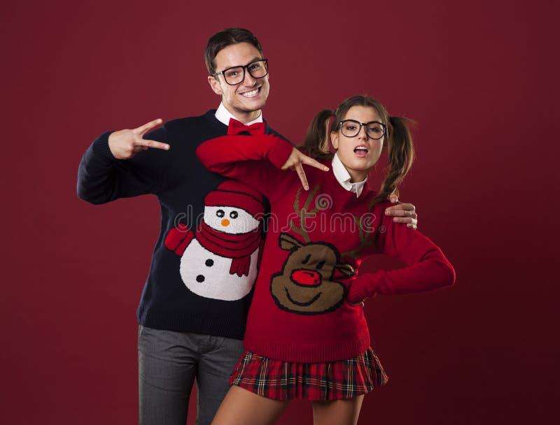 Crazy nerds royalty free stock image