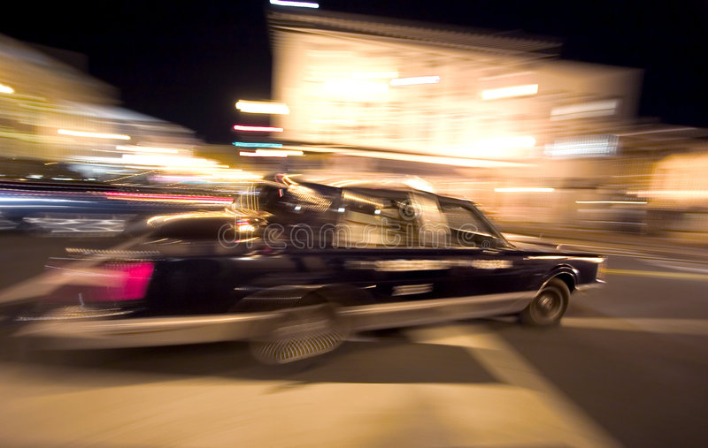 Crazy night TAXI stock photography