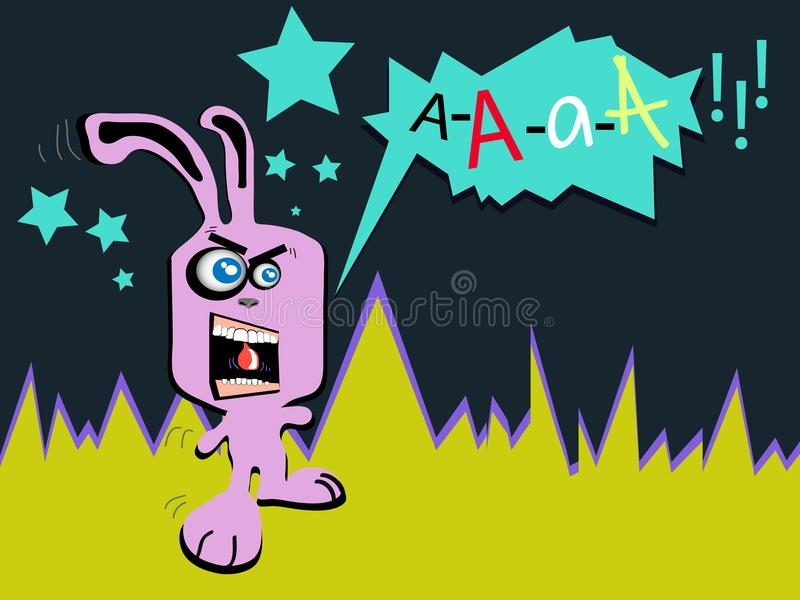 Download Crazy pink rabbit stock vector. Illustration of rage - 18227840