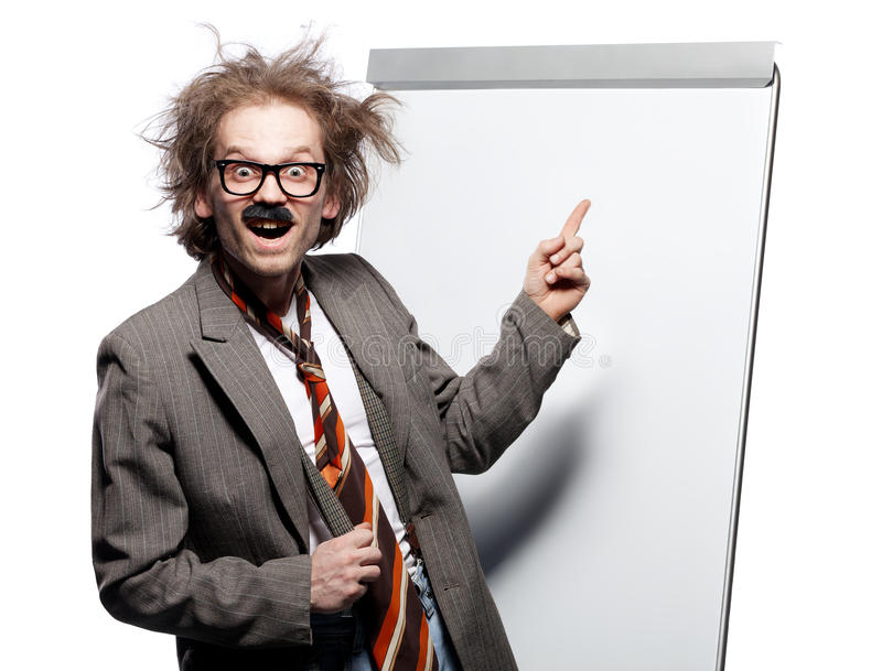 Crazy professor royalty free stock photography