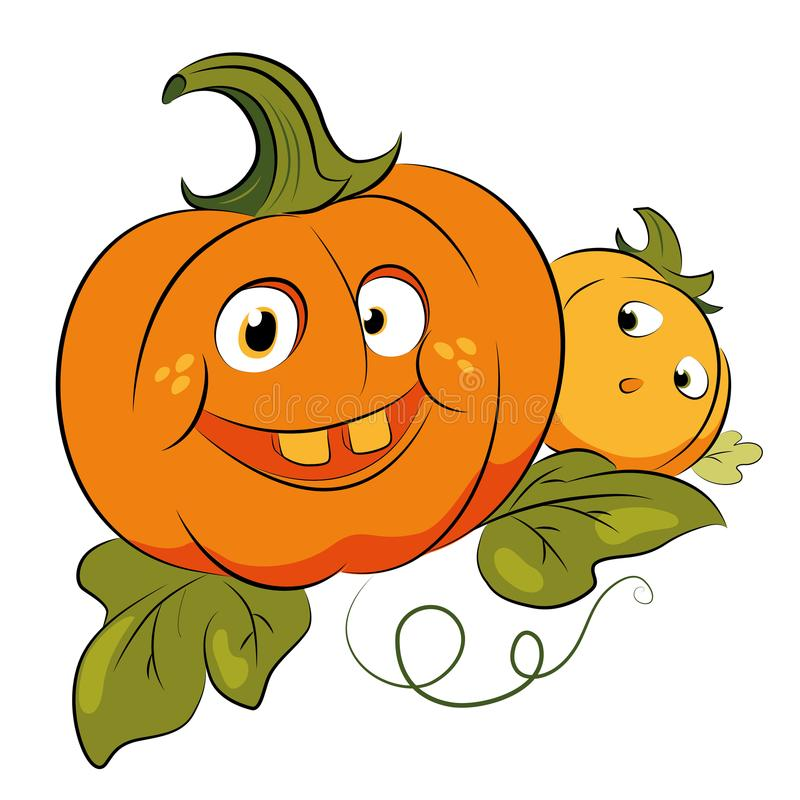 Crazy pumpkins for halloween party royalty free stock photo
