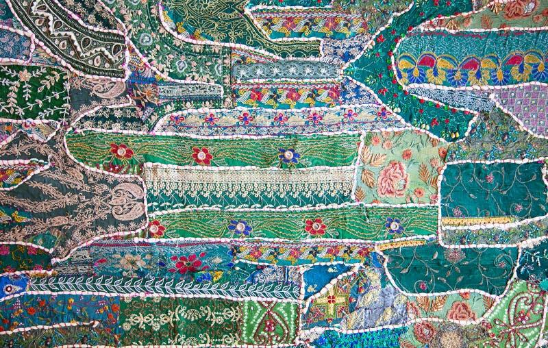 Crazy quilt stock image