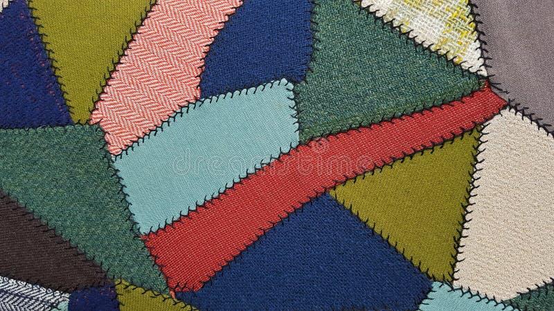 Crazy quilt patchwork pattern stock image