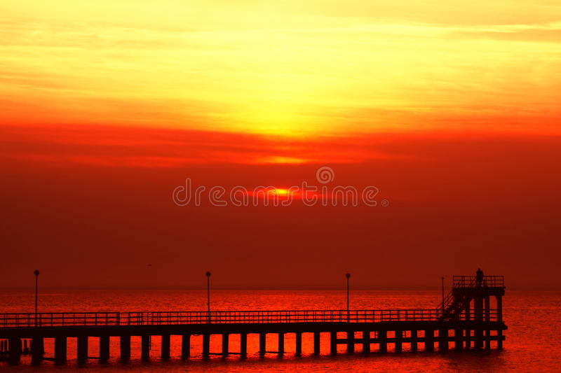Download Crazy red sunset stock image. Image of backdrop, beach - 14341233