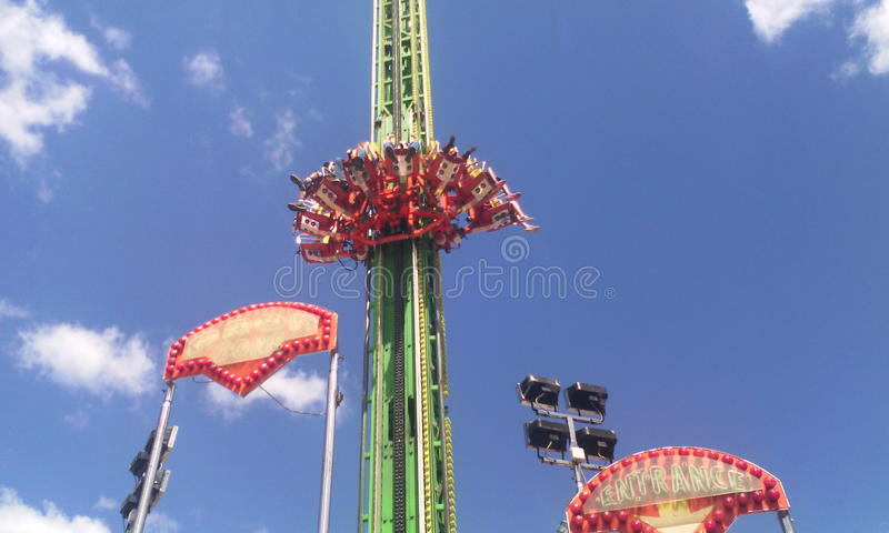 Crazy ride stock images