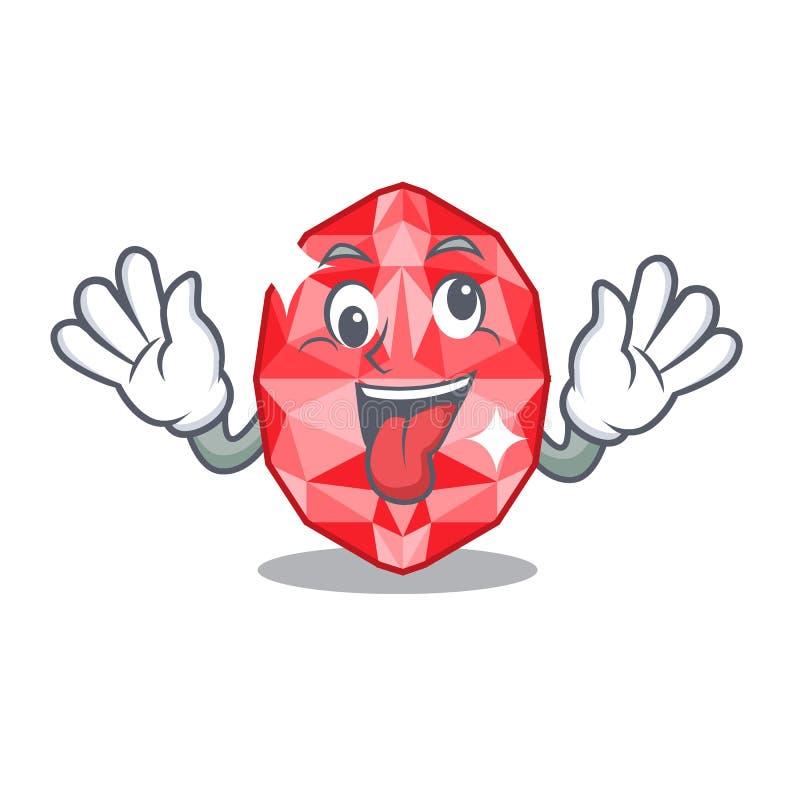 Crazy ruby gems in the mascot shape. Vector illustration vector illustration