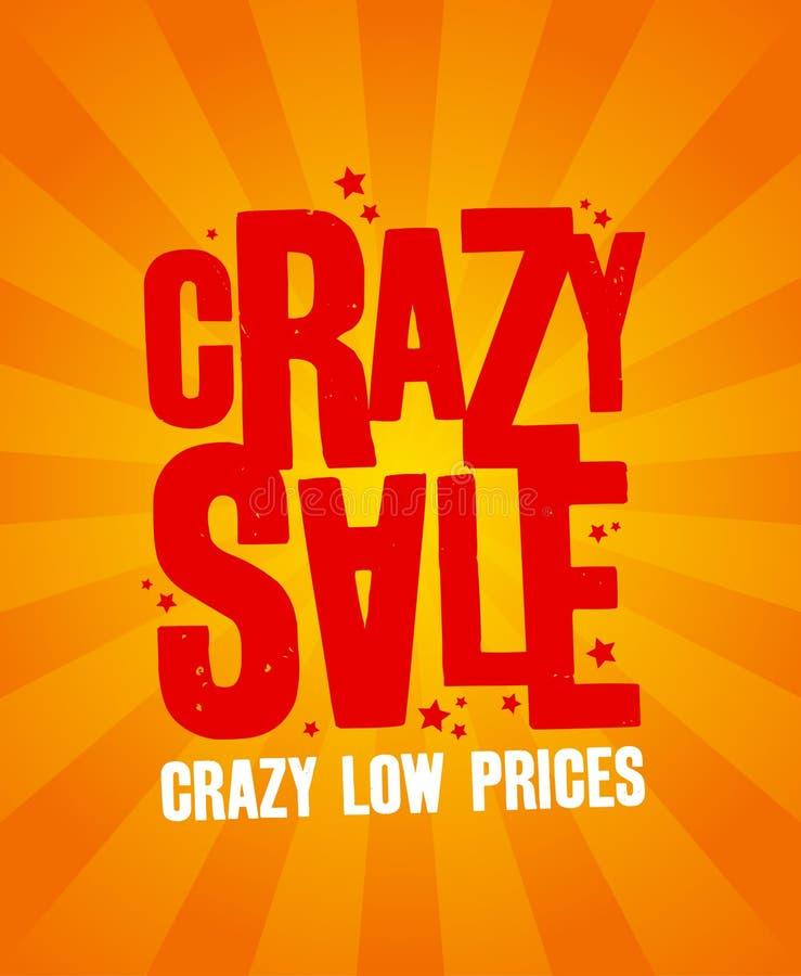 Crazy sale banner. vector illustration
