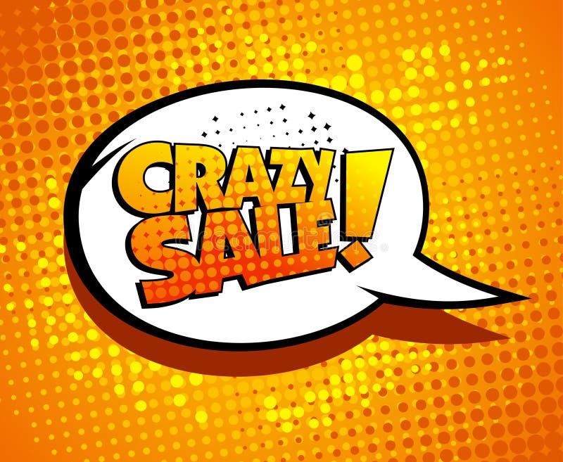 Crazy sale bubble talk. vector illustration