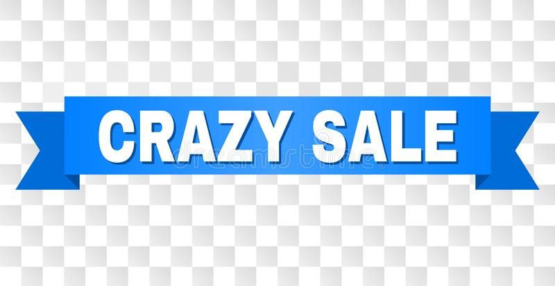 Blue Stripe with CRAZY SALE Caption royalty free illustration