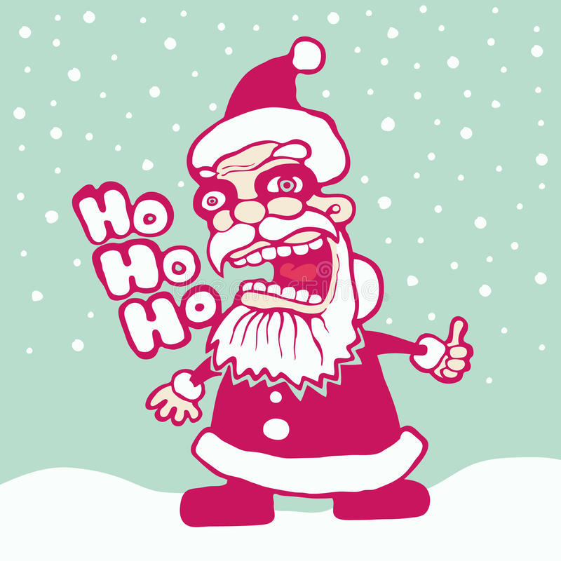 Download Crazy Santa stock vector. Image of saint, clause, illustration - 16719733