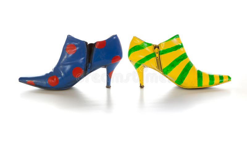 Crazy shoes royalty free stock image