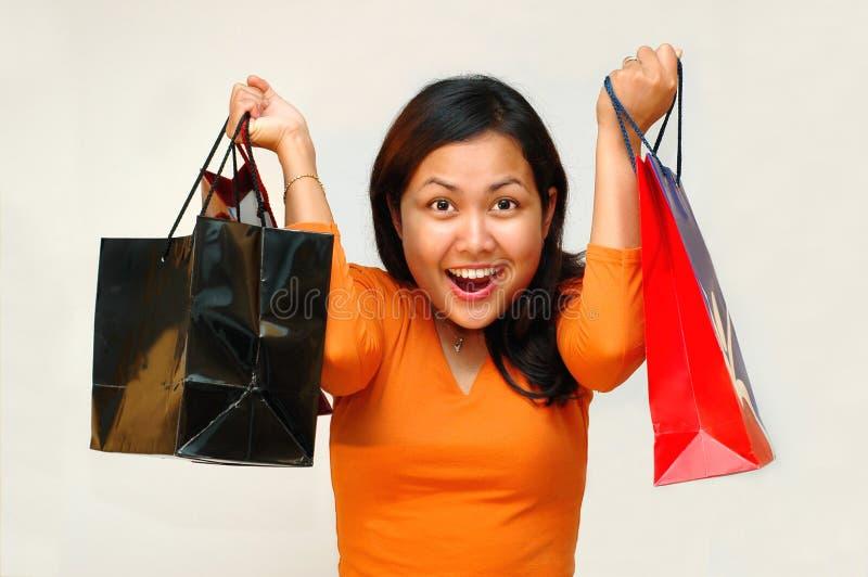 Crazy Shopping royalty free stock photo