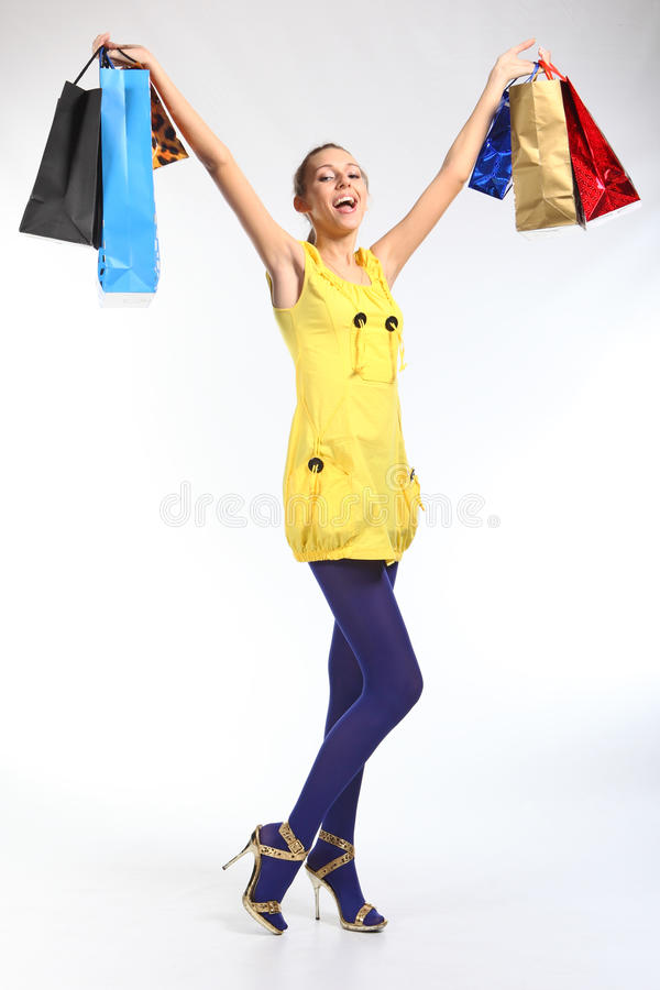 Crazy Shopping Royalty Free Stock Images