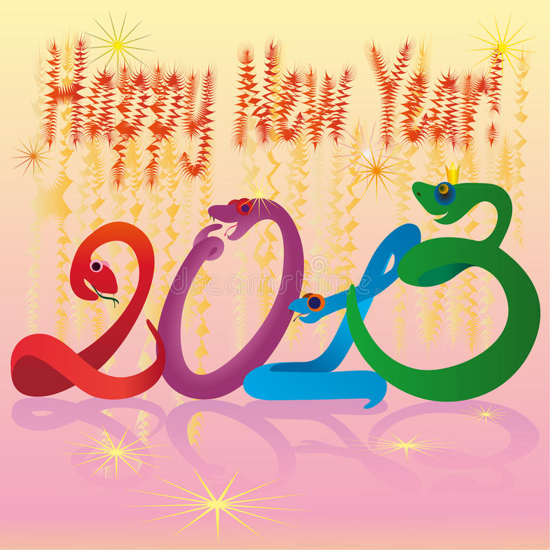 Download Crazy Snakes And 2013 New Year Colours Stock Vector - Illustration of success, 2013: 26787883