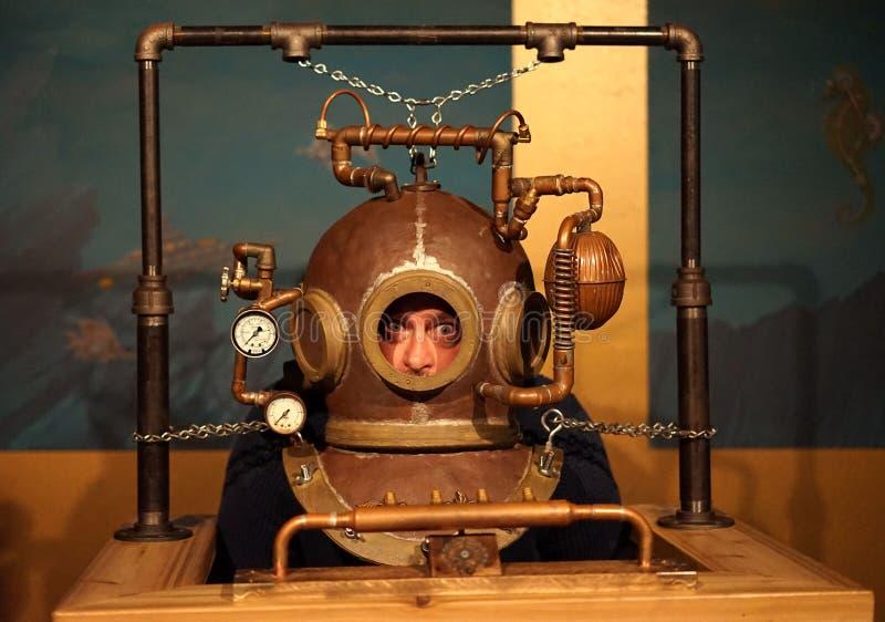 Crazy Steampunk diving apparatus royalty free stock photos