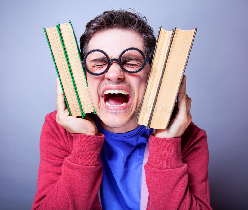 Download Crazy student stock image. Image of crazy, happiness - 33685045