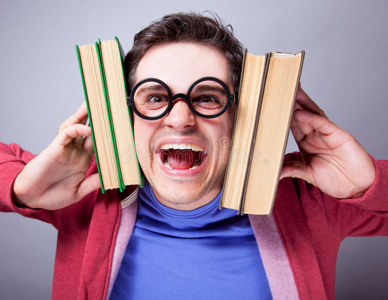 Download Crazy student stock image. Image of glasses, caucasian - 33685047