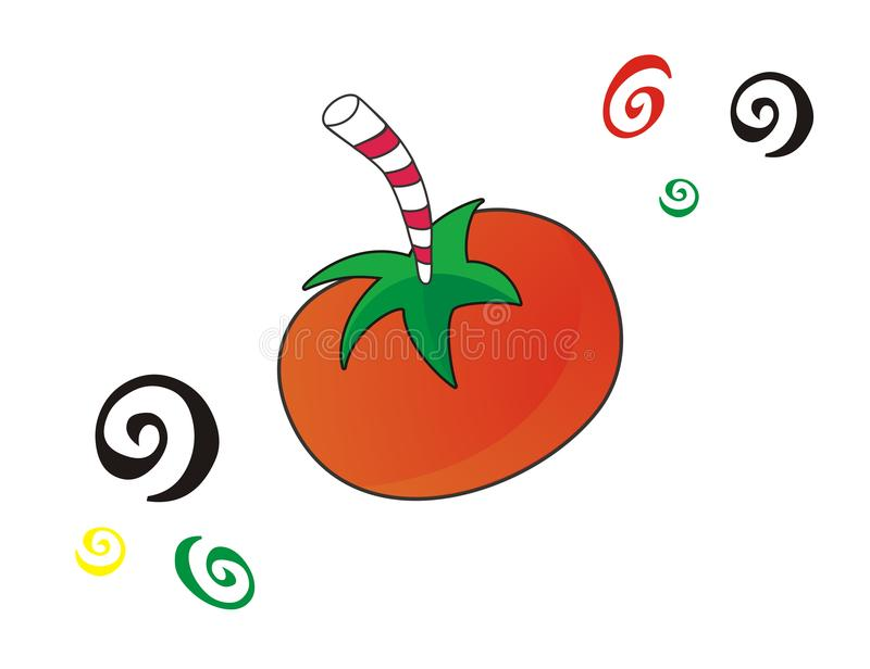 Download Crazy tomato juice stock illustration. Illustration of glass - 5301733