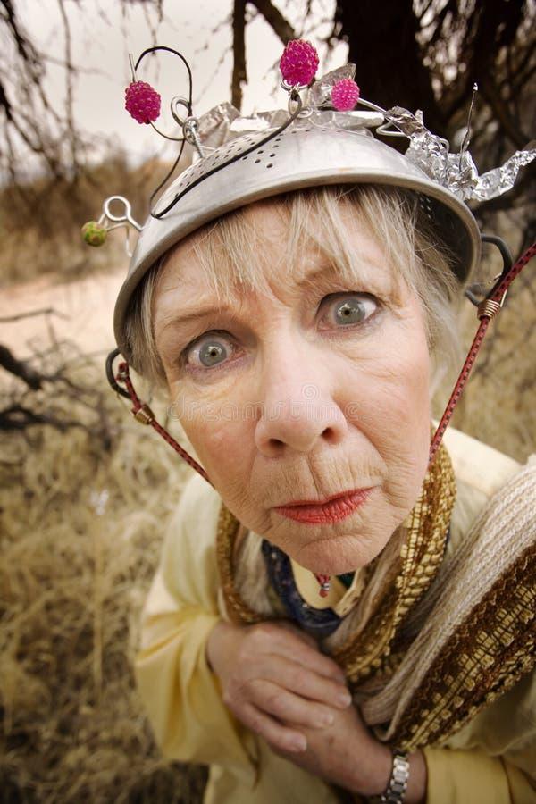 Download Crazy Woman stock image. Image of insane, aluminum, schizo - 8871851