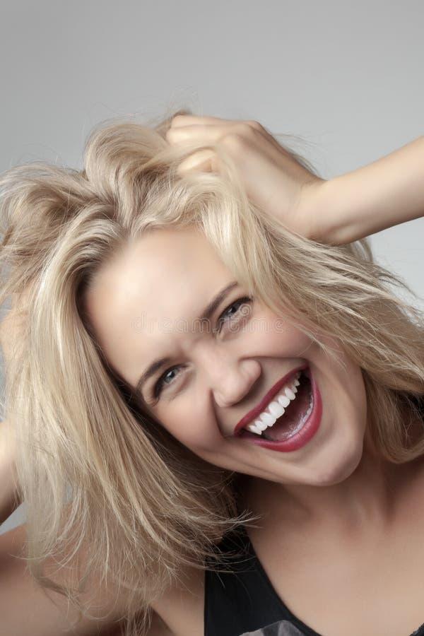 Crazy woman royalty free stock photos