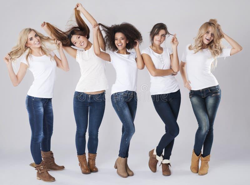 Crazy women royalty free stock image