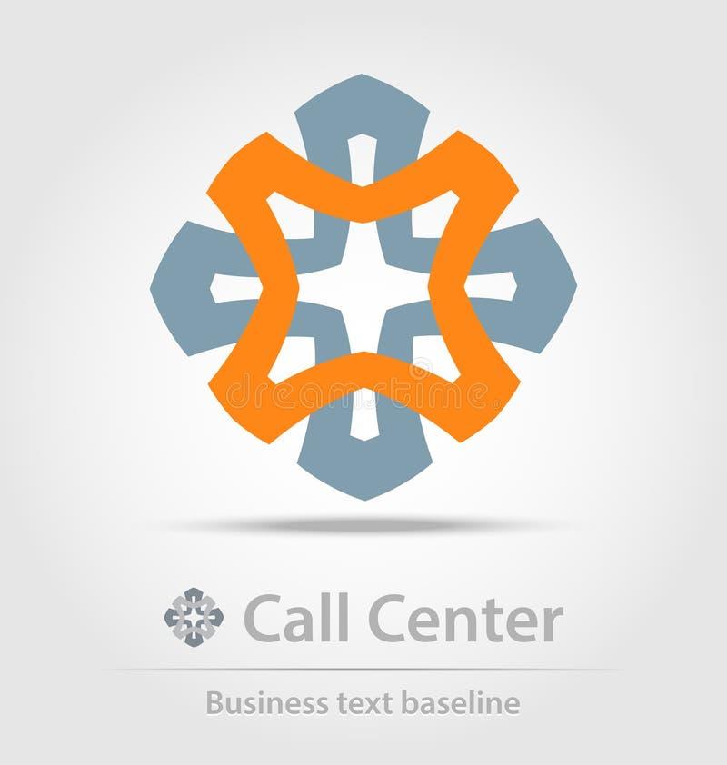 Creó originalmente el icono del negocio del centro de atención telefónica ilustración del vector