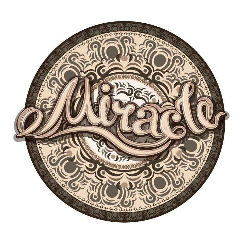 Crea en la impresión de la cita de los milagros en vector stock de ilustración