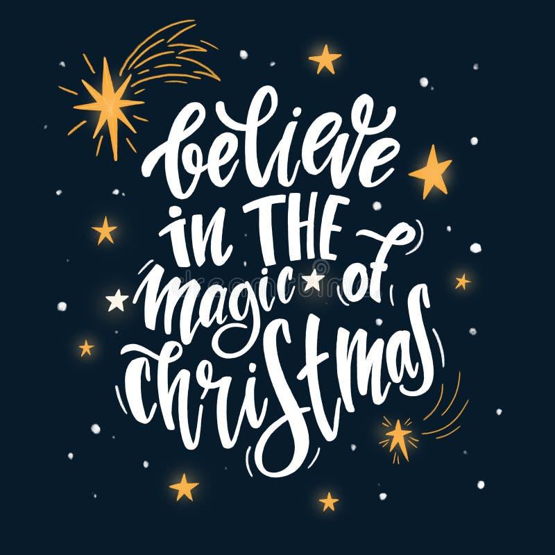 Crea en la magia de la Navidad stock de ilustración