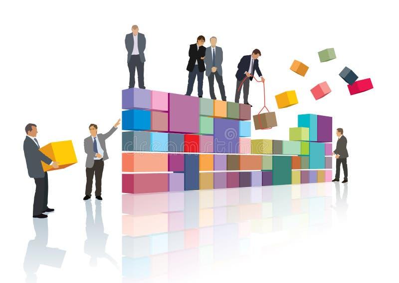 Creación de la compañía stock de ilustración