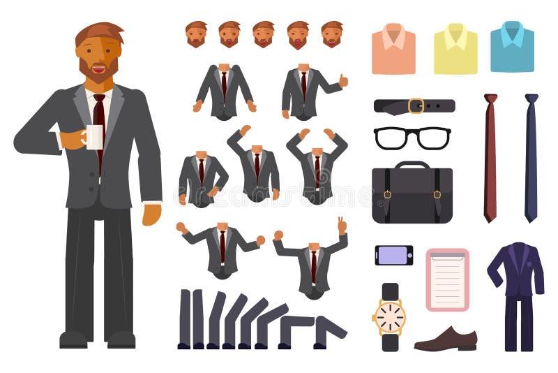 Creación del carácter del hombre de negocios libre illustration